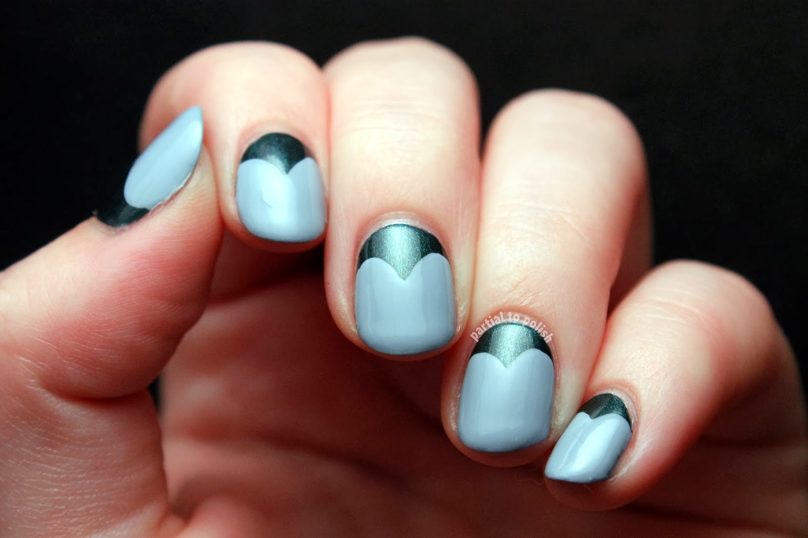Half Moon Heart Nail Art