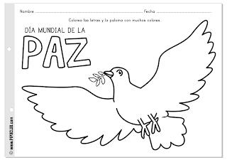 Día Mundial de la Paz - Actividad Paloma - Pipo