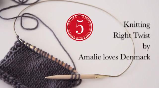 Amalie loves Denmark Stricken lernen Rechte Maschen