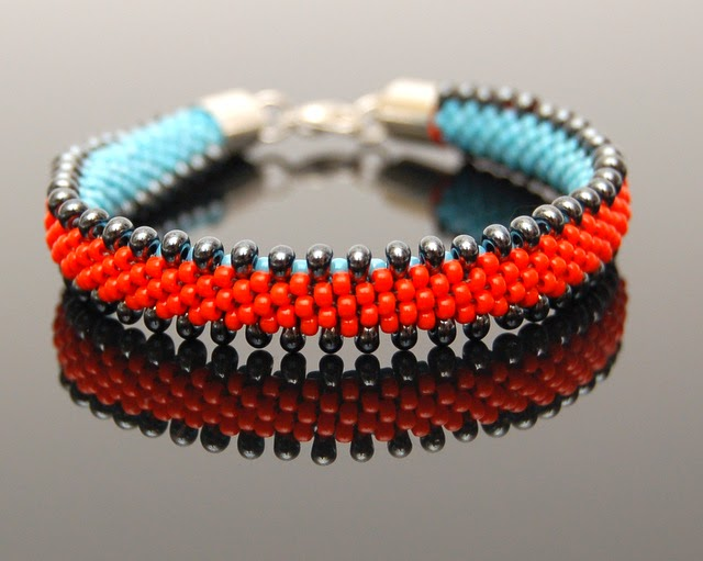 bransoletka koralikowa bead crochet bracelet inati zare
