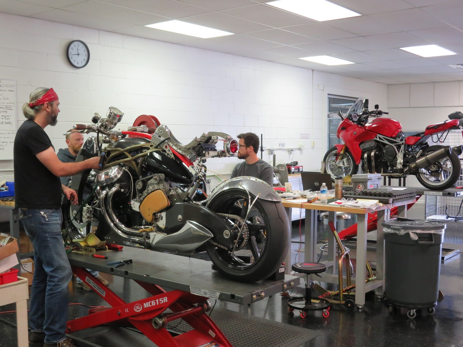 JT Nesbitt and Brian Case in the Motus Factory