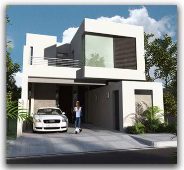 Fachadas contempor neas egenate fachada contempor nea con for Terraza al frente dela casa