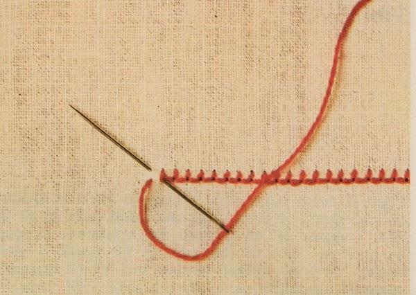 Professione donna punti per il ricamo i punti di attaccatura for Nodo invisibile per unire due fili di lana