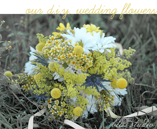 DIY wedding flowers As with almost everything else for our wedding