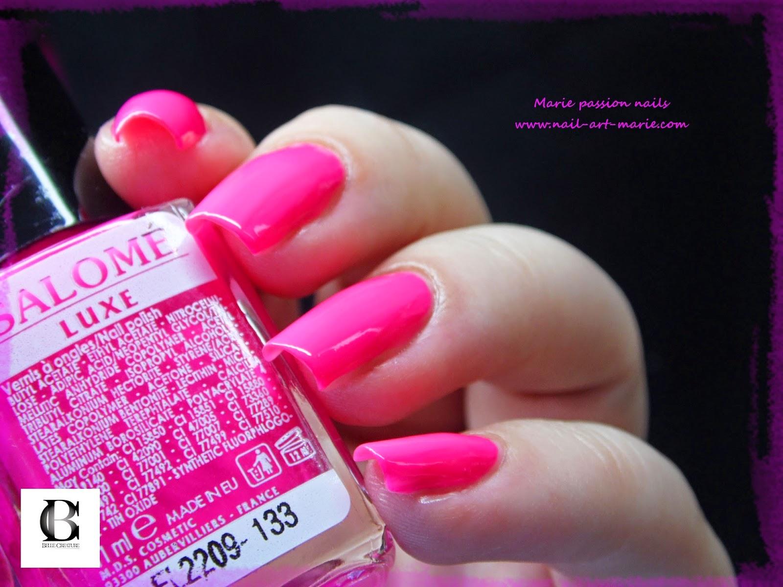 Salomé Luxe rose fluo7