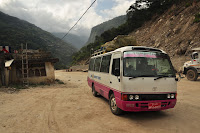 Bus to Thimphu