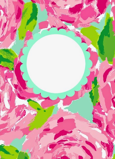 image relating to Free Printable Binder Covers Lilly Pulitzer named blank binder addresses -