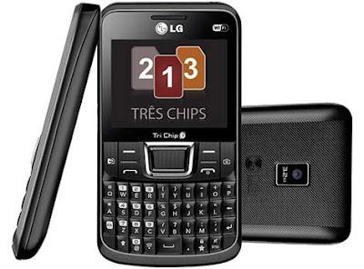 LG Tri Chip 333 - Ponsel QWERTY 3 SIM Card Terbaru - Berita Handphone