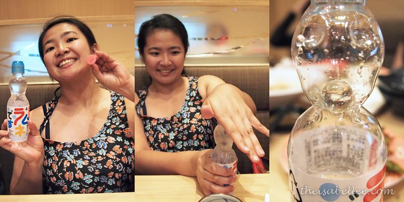Opening Ramune soda at Sushi King