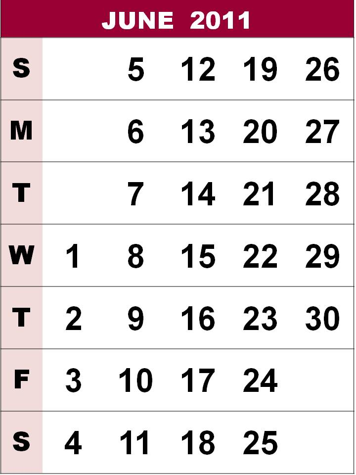 printable june 2011 calendar. Free Printable June 2011