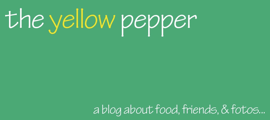 the yellow pepper
