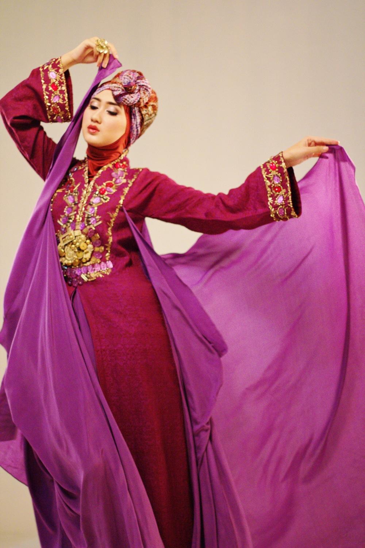 Baju pesta muslimah modern 2014 baju muslim family Gambar baju gamis pesta 2014