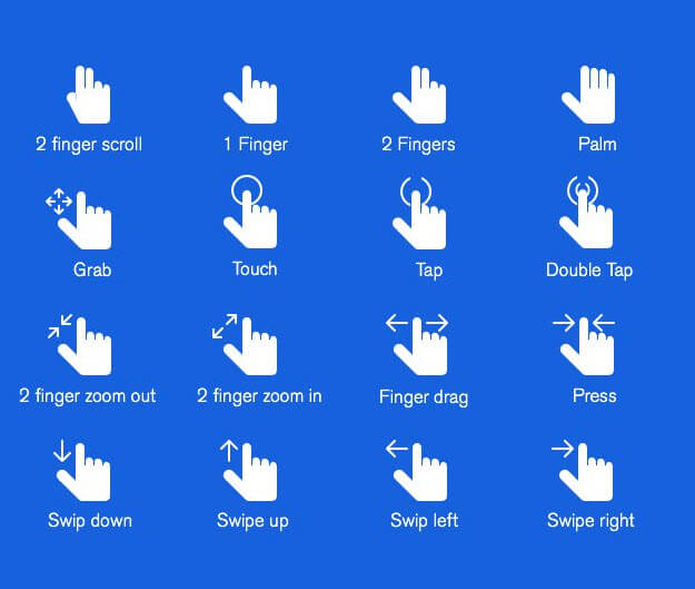 Hand Gestures Icons PSD