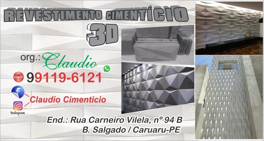 RV REVESTIMENTO CIMENTICIO 3D