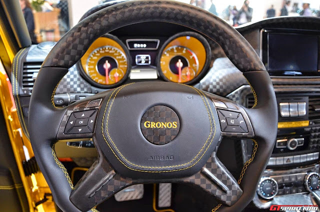 mercedes g mansory gronos steering wheel