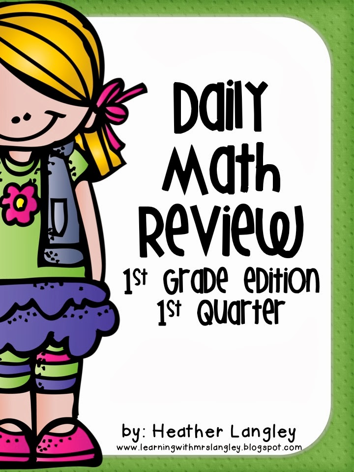 http://www.teacherspayteachers.com/Product/Daily-Math-Review-1st-Grade-Quarter-1-1022483