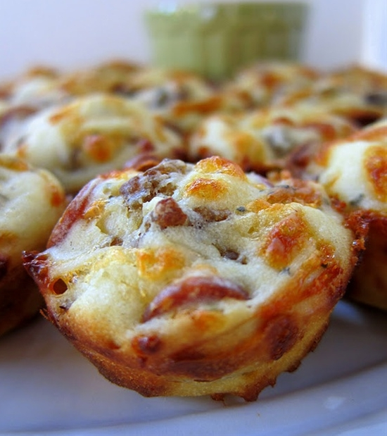 Food drink pinterest great party appetizers pizza puffs for Great party appetizer recipes