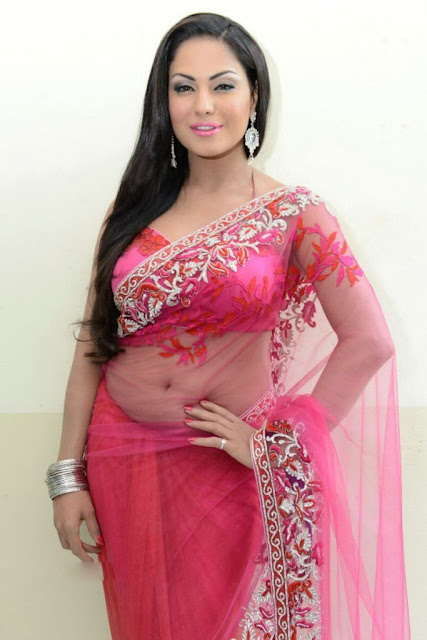 Veena Malik New Navel Show In Saree photos