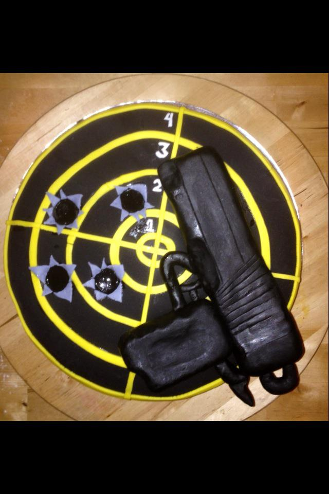 In Honor Of Our US MILITARY Mans Birthday Who Loves Target Shooting Heres A Surprise Cake From Wifey Loren Rioflorido