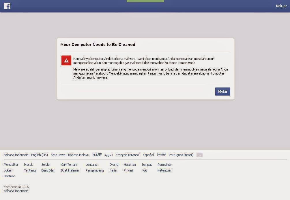 Pemberitahuan Malware