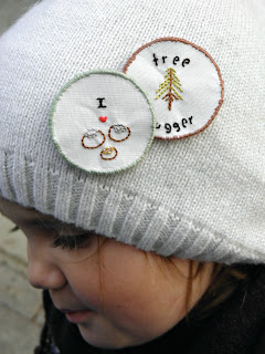 Tutorial and template for fall inspired handstitched merit badges.