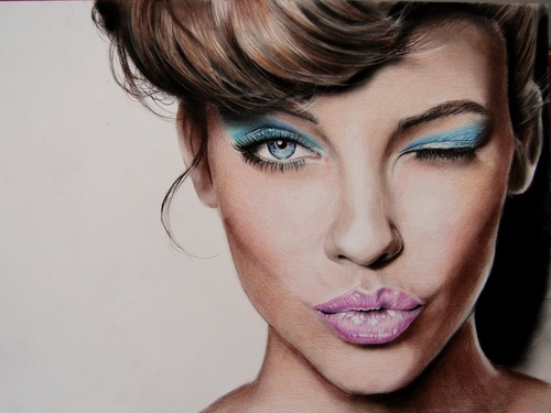 04-Barbara-Palvin-Valentina-Zou-Pencils-and-Charcoal-Hyper-Realistic-Drawings-www-designstack-co