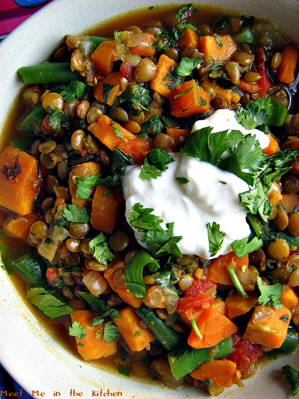 Meet Me in the Kitchen: Lentil and Sweet Potato Stew
