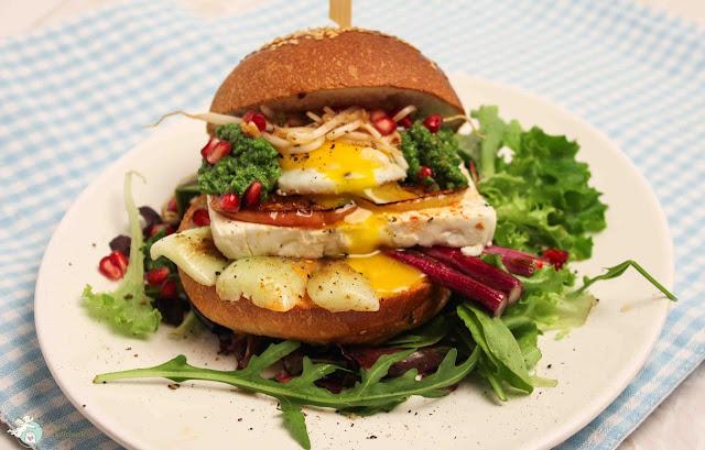 griechischer Burger Rezept vegetarisch
