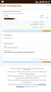 Error PayPal payment