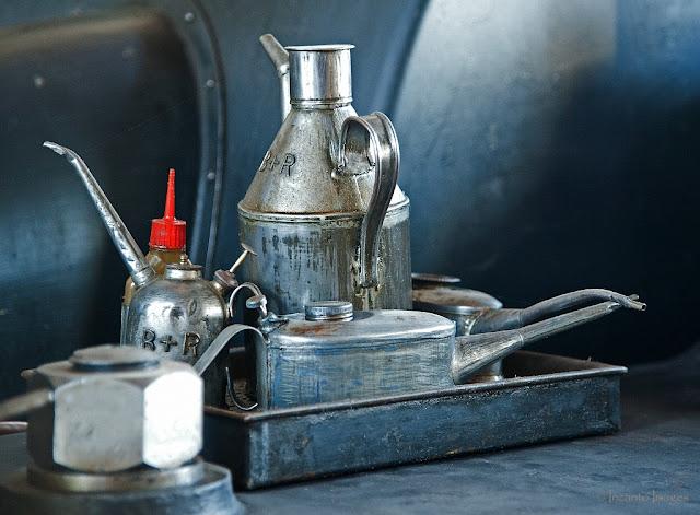 smeermiddelen in het stoommuseum