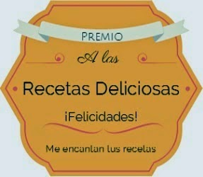 Premio Recetas Deliciosas.