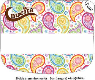 Etiqueta Nucita  de Cachemira para imprimir gratis.