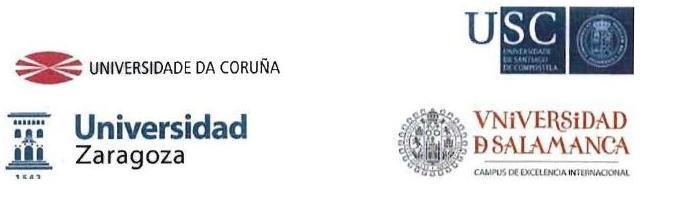 Título conjunto por las Universidades de A Coruña, Santiago de Compostela, Salamanca y Zaragoza