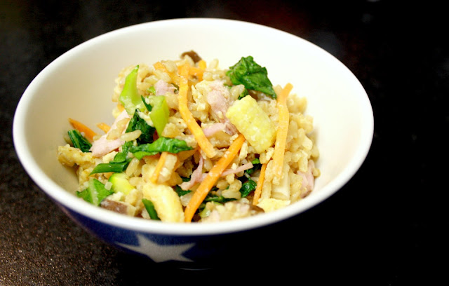 Ham and vegetable egg fried rice - great for using leftover veggies and rice