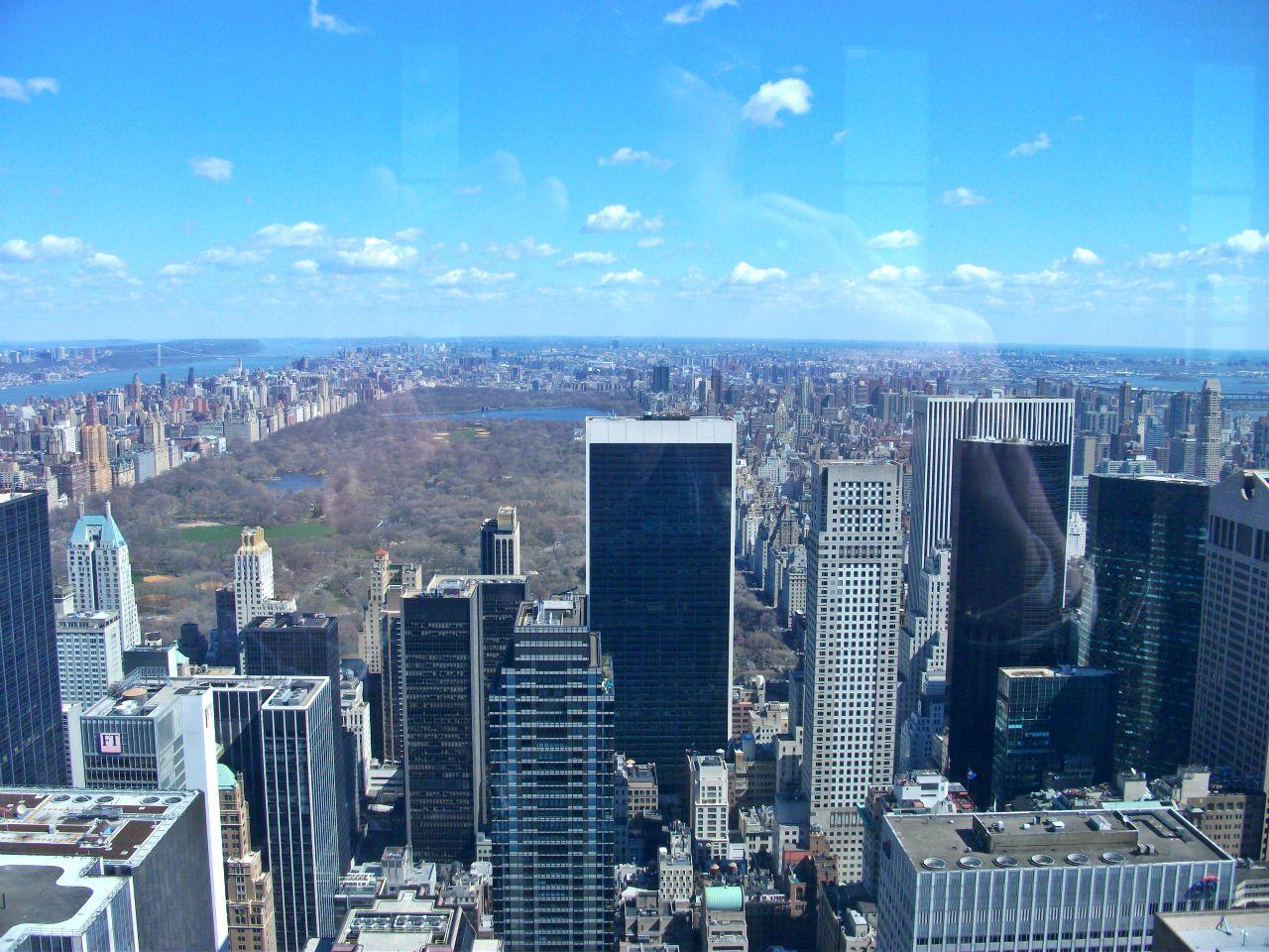 Manhattan y Central Park desde el Top of the Rock (TOR) en Nueva York