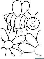 Mewarnai Gambar Lebah Madu Halaman Mewarnai Binatang Lebah