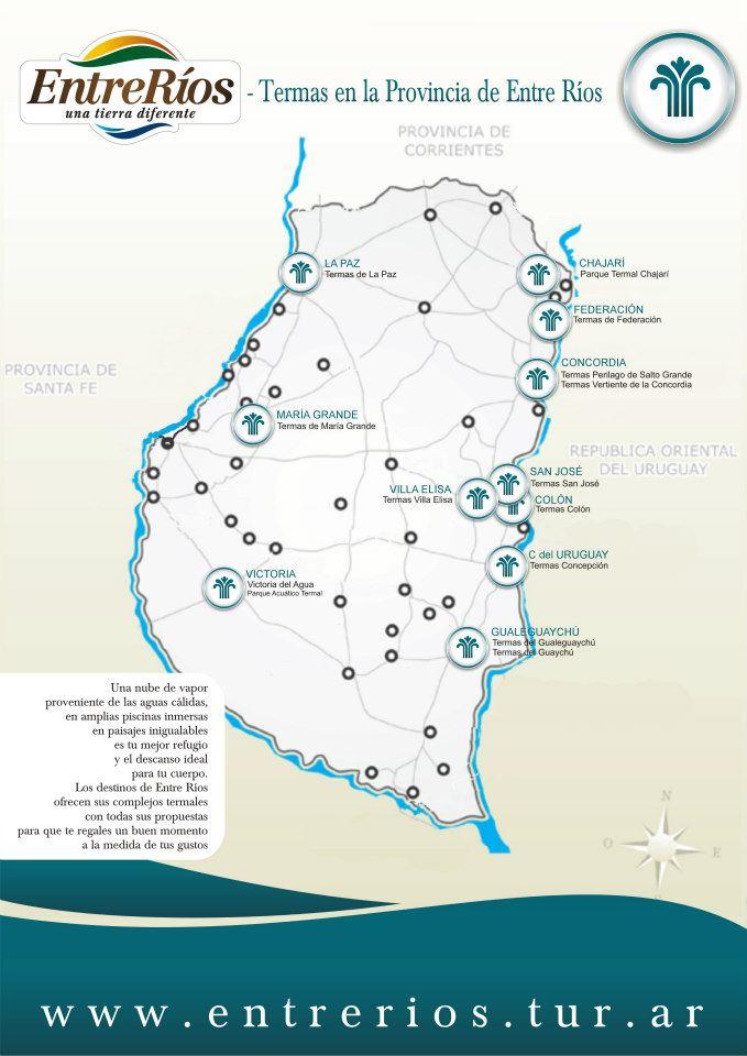 Mapa de termas de entre rios region litoral for Termas naturales en entre rios