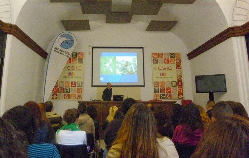 XIV Curso de Iniciación a la Ornitología, Edición 2014. Organiza el grupo local SEO-Sevilla de SEO/BirdLife. Ponencias