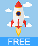 Flat Rocket Vector Free Download