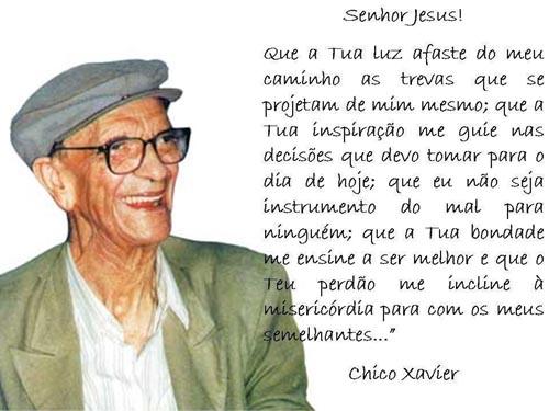 Frases de Chico Xavier - Pensador