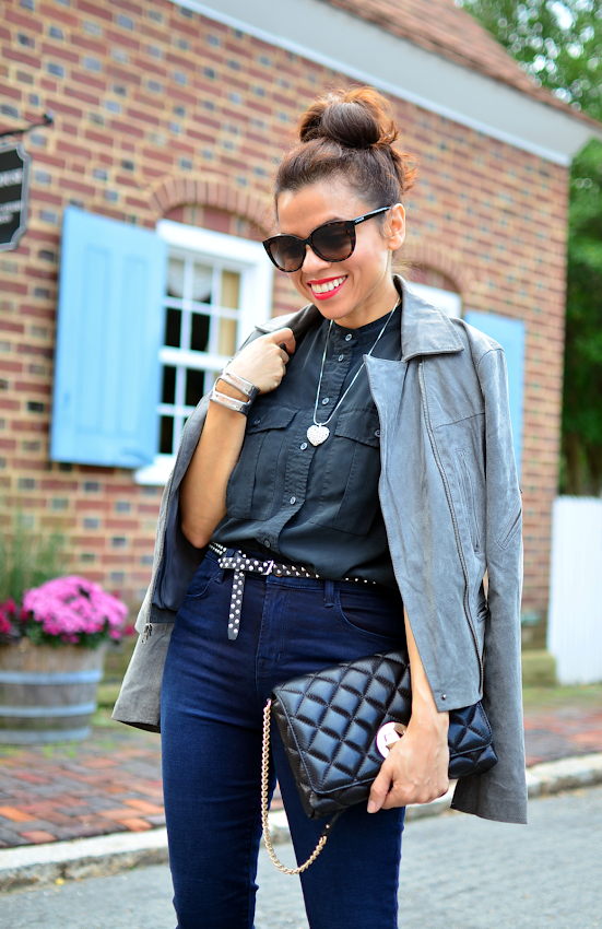 Outfit with J Brand Maria Jeans