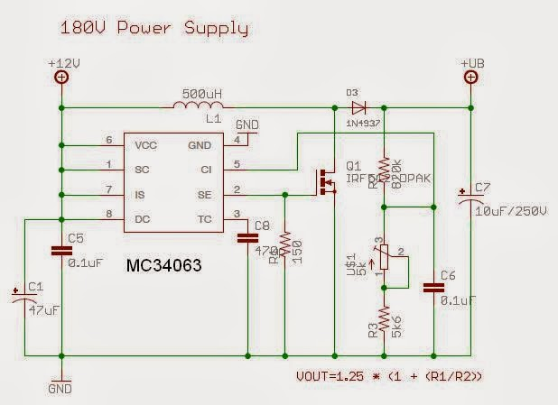 wise time with arduino high voltage power sources for tubes (nixie