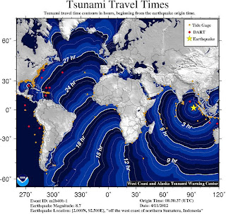 Tsunami Travel Time Estimation: Sumatera Earthquake 2012