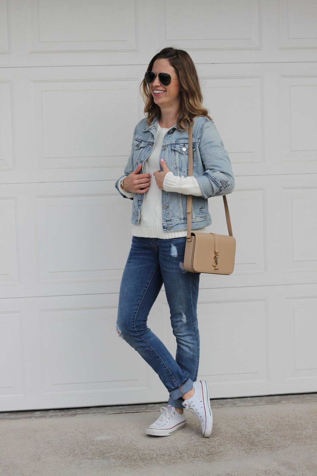 jean jacket and jean outfit