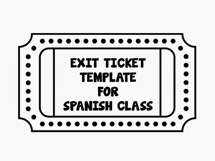 Exit Ticket Template Use  Exit Tickets As A Way To Get Your