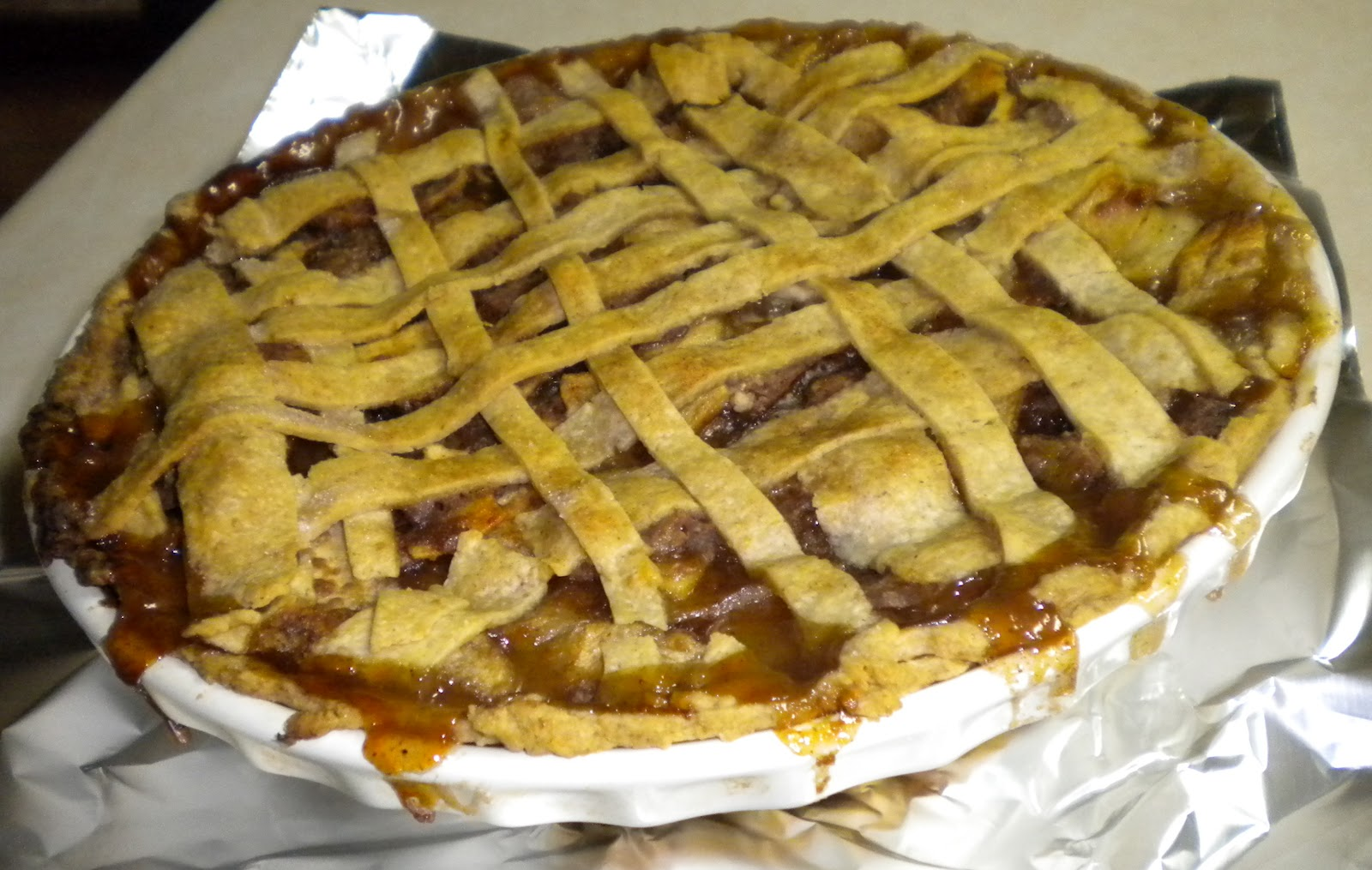 Pats Posts: Windy fall days and Brandy apple pie