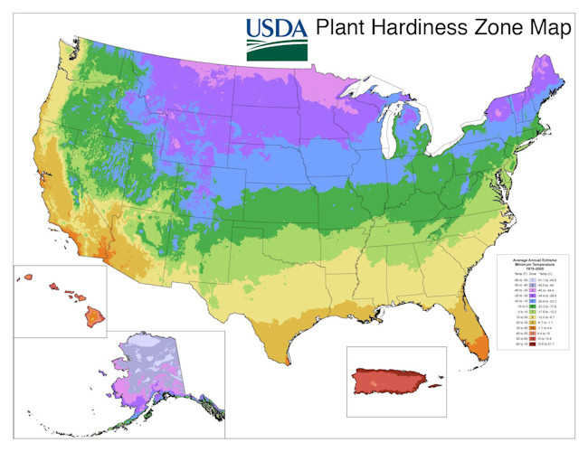 Garden Musings From Memphis Area Master Gardeners USDA Hardiness - Memphis on us map