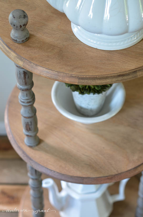 Mixing natural wood with a painting finish adds interest to any piece of furniture.  {anderson and grant}