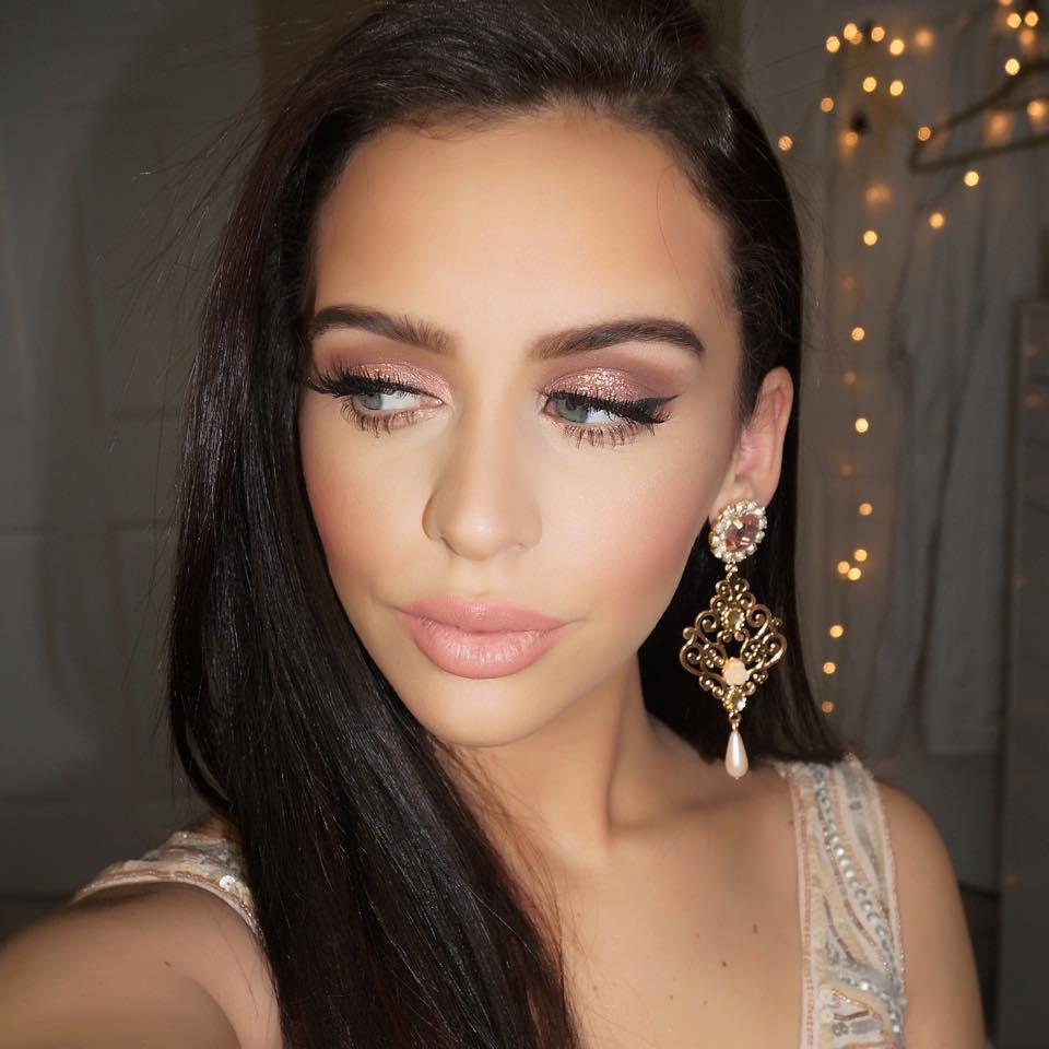Rose Gold Glitter Nye Makeup The Beauty Bybel Bloglovin
