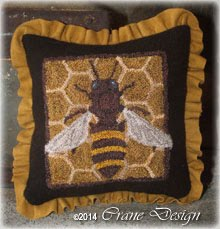 "Bees Knees Punchneedle 5"" x 5.25"